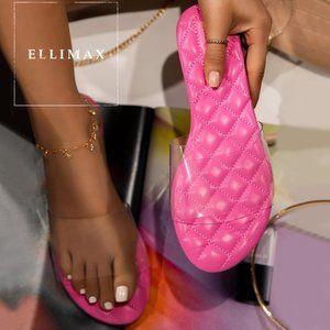 NEW Transparent Quilted Slide Sandals Flip Flops